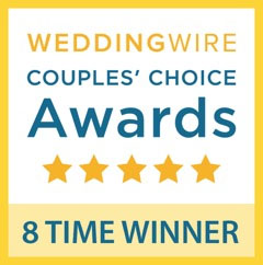 WeddingWire Couples' Choice Awards 5 Star 8 Time Winner